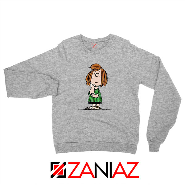 Peppermint Patty Sport Grey Sweatshirt