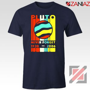 Pluto Never Forget Navy Blue Tshirt