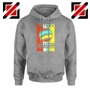 Pluto Never Forget Sport Grey Hoodie