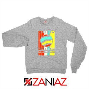 Pluto Never Forget Sport Grey Sweatshirt