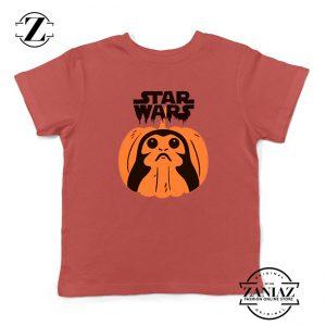 Porgs Star Wars Red Kids Tshirt