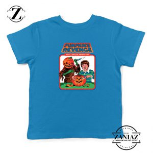 Pumpkins Revenge Kids Blue Tshirt