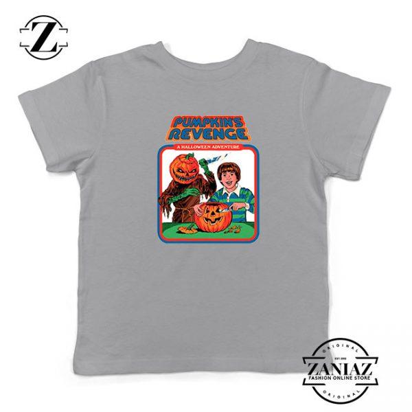 Pumpkins Revenge Kids Sport Grey Tshirt