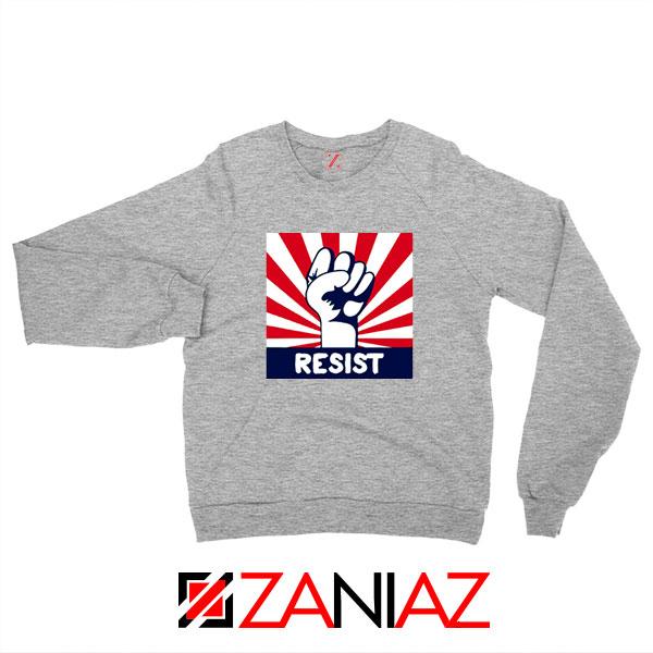 Resist Fist Sport Grey Sweatshirt