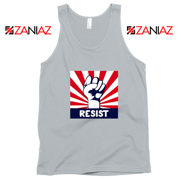 Resist Fist Sport Grey Tank Top