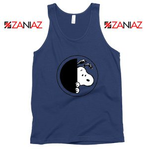 Sneaky Snoopy Navy Blue Tank Top