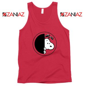 Sneaky Snoopy Red Tank Top