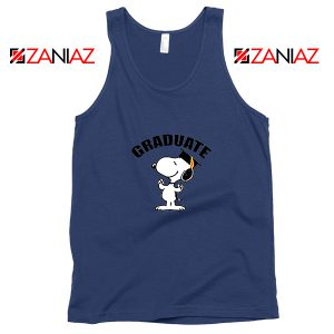 Snoopy Graduate Navy Blue Tank Top