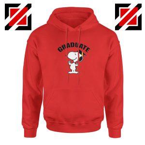 Snoopy Graduate Red Hoodie