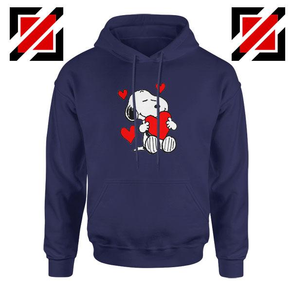Snoopy Valentine Navy Blue Hoodie