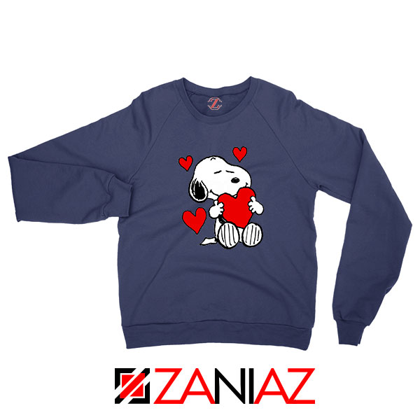 Snoopy Valentine Navy Blue Sweatshirt