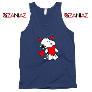 Snoopy Valentine Navy Blue Tank Top