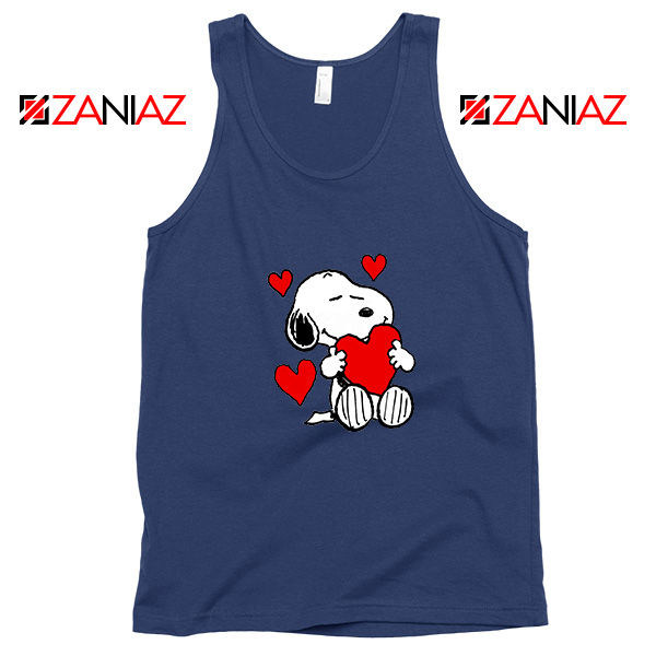 Snoopy Valentine Navy Blue Tank Top
