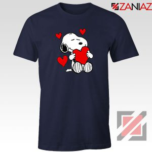 Snoopy Valentine Navy Blue Tshirt