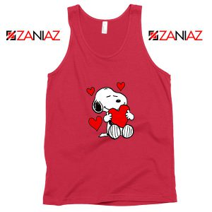 Snoopy Valentine Red Tank Top