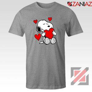 Snoopy Valentine Sport Grey Tshirt