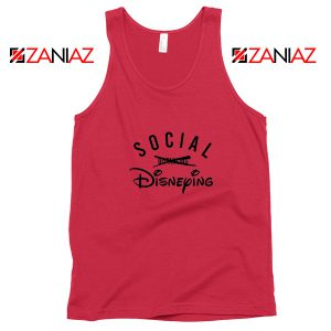 Social Disneying Red Tank Top