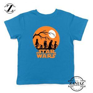 Star Wars Trick or Treating Blue Kids Tshirt