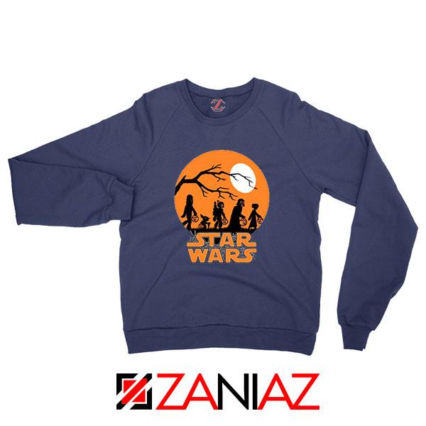 Star Wars Trick or Treating Navy Blue Sweatshirt