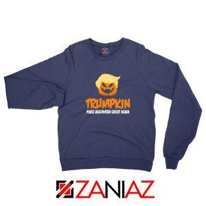 Trumpkin Scary Navy Blue Sweatshirt