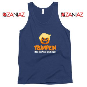 Trumpkin Scary Navy Blue Tank Top