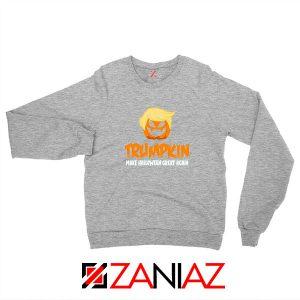 Trumpkin Scary Sport Grey Sweatshirt