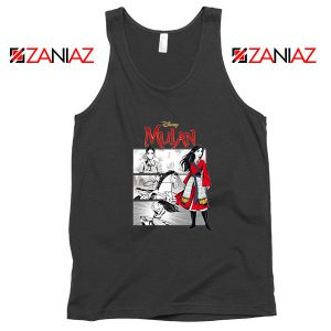 Womens Mulan Black Tank Top