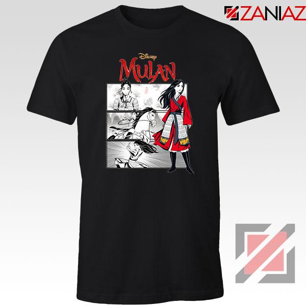 Womens Mulan Black Tshirt
