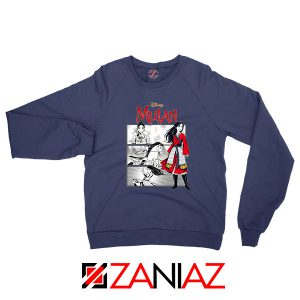 Womens Mulan Navy Blue Sweatshirt