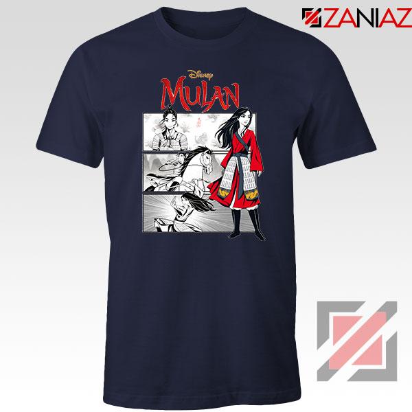 Womens Mulan Navy Blue Tshirt
