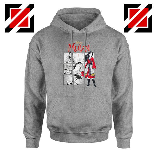 Womens Mulan Sport Grey Hoodie