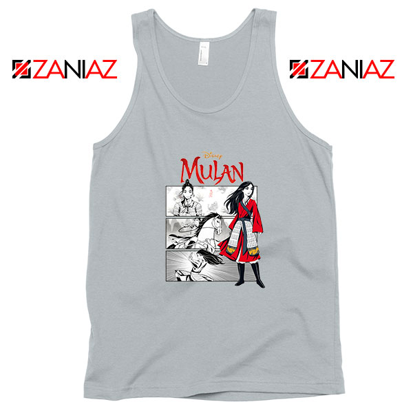 Womens Mulan Sport Grey Tank Top