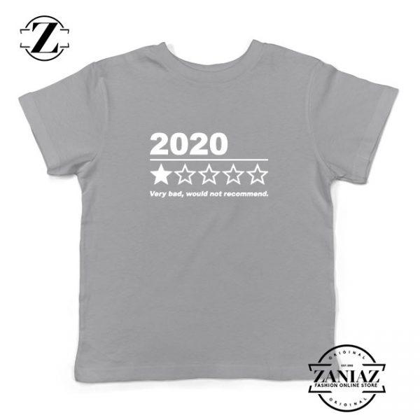 2020 Bad Year Kids Sport Grey Tshirt