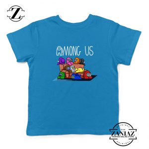 Among Us Couch Kids Blue Tshirt