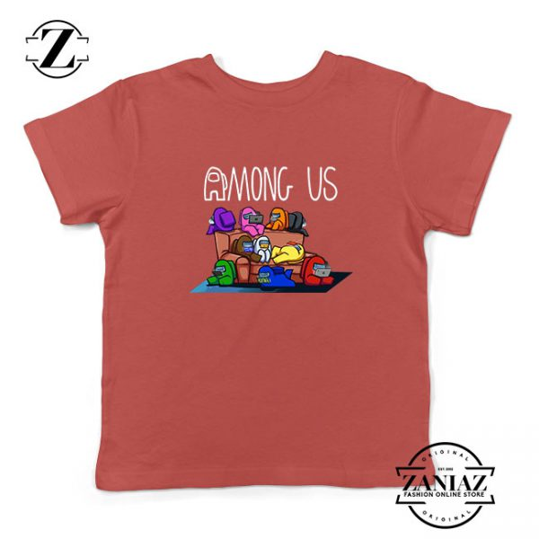 Among Us Couch Kids Red Tshirt