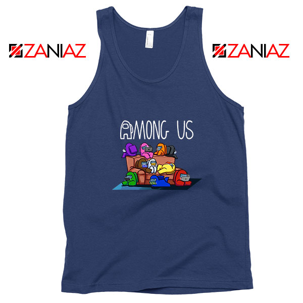Among Us Couch Navy Blue Tank Top