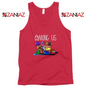 Among Us Couch Red Tank Top