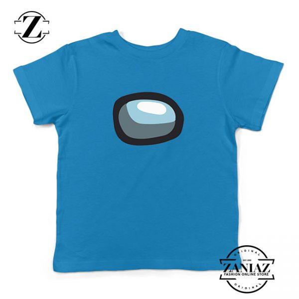 Among Us Eye Kids Blue Tshirt