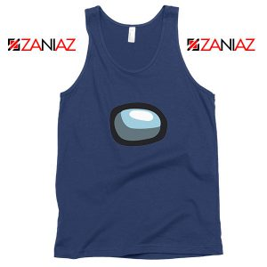 Among Us Eye Navy Blue Tank Top