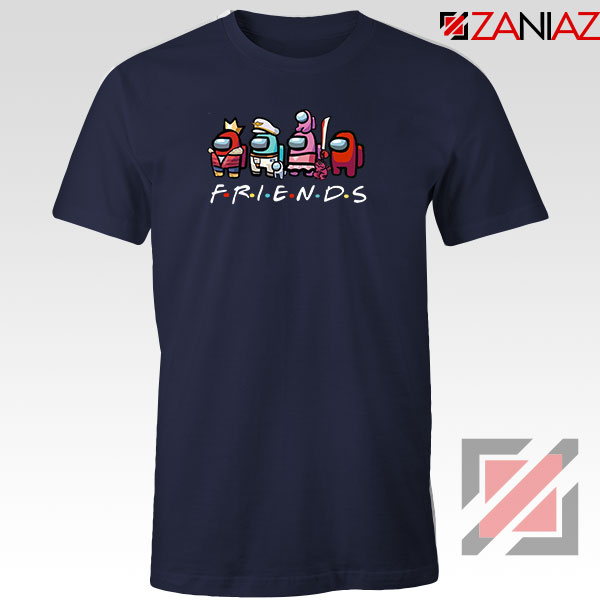 Among Us Friends Navy Blue Tshirt