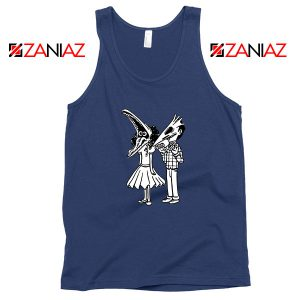 Beetlejuice Navy Blue Tank Top