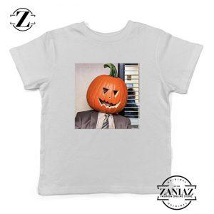 Dwight Pumpkin Head Kids White Tshirt