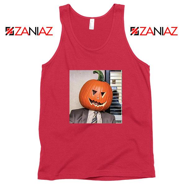 Dwight Pumpkin Head Red Tank Top