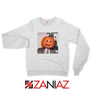 Dwight Pumpkin Head White Sweatshirt