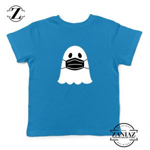 Ghost Mask 2020 Kids Blue Tshirt