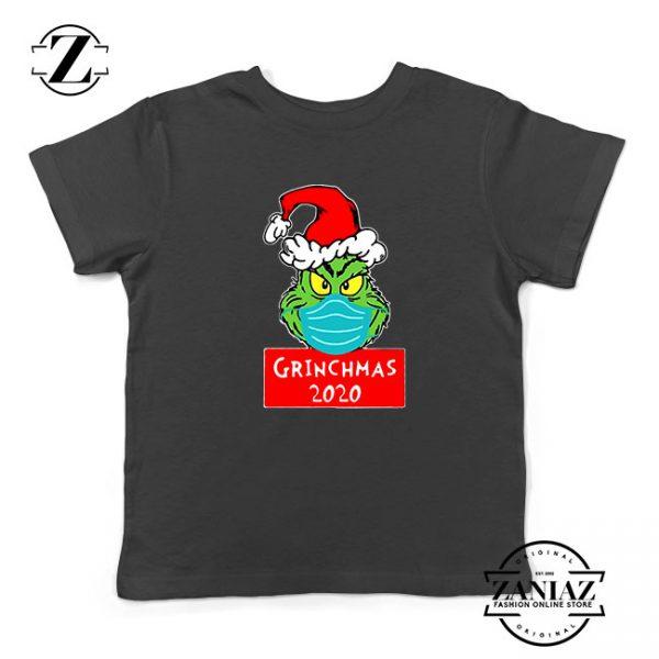 Grinchmas 2020 Kids Black Tshirt