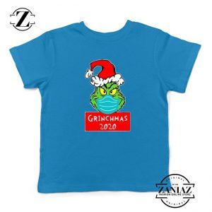 Grinchmas 2020 Kids Blue Tshirt