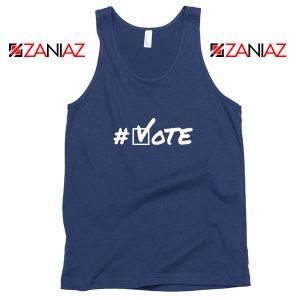 Hashtag Vote Navy Blue Tank Top