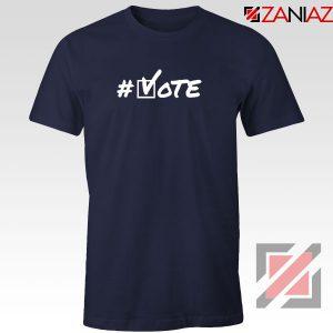 Hashtag Vote Navy Blue Tshirt