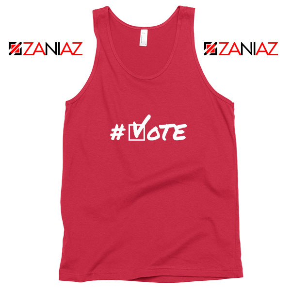 Hashtag Vote Red Tank Top